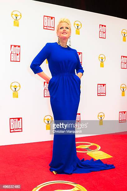Barbara Schoeneberger attends the red carpet during the 'Goldenes Lenkrad' Award 2015 at Axel Springer Haus on November 10 2015 in Berlin Germany