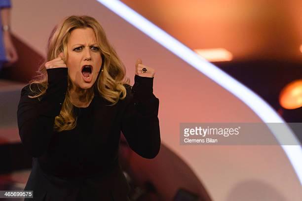 Barbara Schoeneberger attends the taping of 'Back To School Gottschalks grosses Klassentreffen' Show on January 28 2014 in Berlin Germany