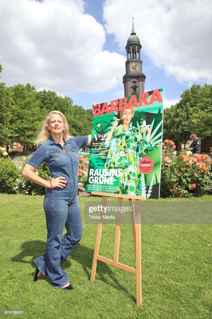 Barbara Schoeneberger during the Editorial Conference to her new magazine BARBARA in front of the Michel on June 15, 2018 in Hamburg, Germany.