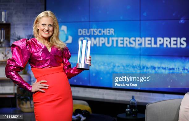 Barbara Schoeneberger during the German Computer Game Award 2020 via livestream on April 27 2020 in Berlin Germany This year the annual German...