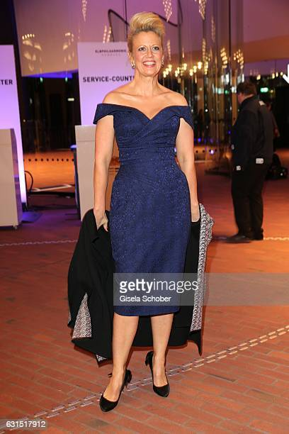 Barbara Schoeneberger during the opening concert of the Elbphilharmonie concert hall on January 11 2017 in Hamburg Germany
