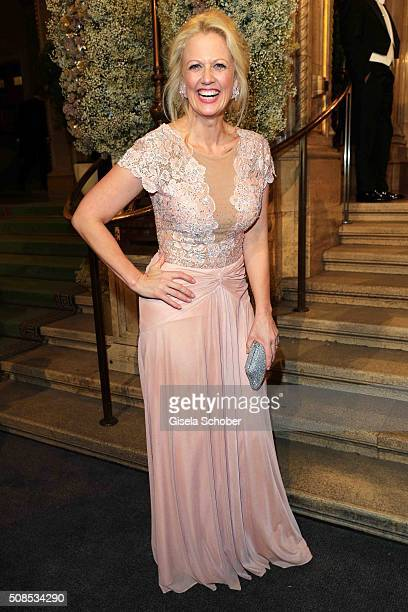 Barbara Schoeneberger during the Opera Ball Vienna 2016 at Vienna State Opera on February 4 2016 in Vienna Austria