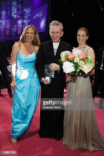 Barbara Schoeneberger Jean Paul Gaultier and Marie Baeumer attend the Duftstars Awards 2012 at Tempodrom on May 4 2012 in Berlin Germany