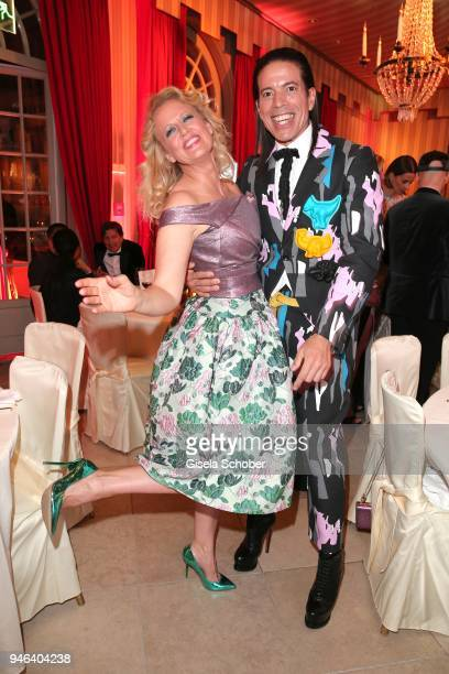 Barbara Schoeneberger Jorge Gonzalez during the Gala Spa Awards at Brenners ParkHotel Spa on April 14 2018 in BadenBaden Germany