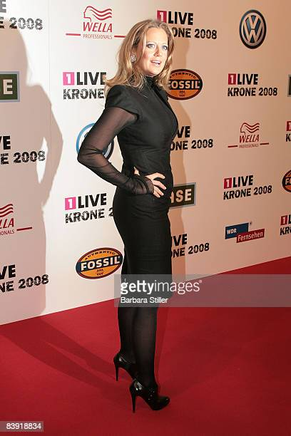 Barbara Schoneberger attends the ''1Live Krone'' awards on December 4 2008 in Bochum Germany