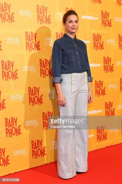 Barbara Schulz during Baby Phone Paris Premiere at Cinema UGC Normandie on February 20 2017 in Paris France