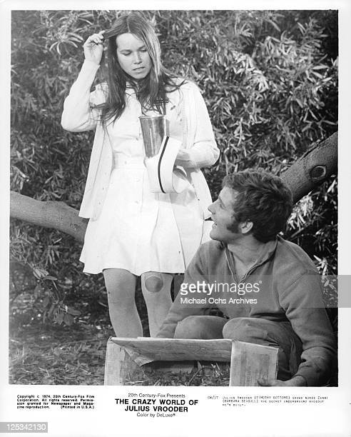 Barbara Seagull sees secret hideout Timothy Bottoms has built in a scene from the film 'The Crazy World Of Julius Vrooder' 1974