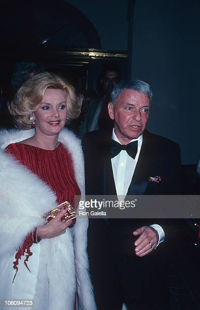 Barbara Sinatra and Frank Sinatra during Armand and Harriett Deutsch Party Febuary 20 1981 at Jimmy's in Beverly Hills California United States