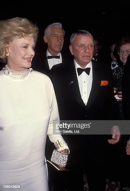 Barbara Sinatra and Frank Sinatra during Sinatra Golf Invitational Gala - February 29, 1992 at Marriott Hotel in Palm Springs, California, United...