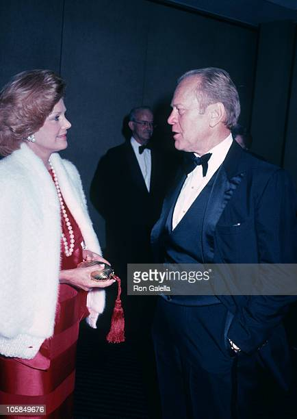 Barbara Sinatra and Gerald Ford during Frank and His Friends Valentine's Day Love In II at The Canyon Hotel in Palm Springs CA United States
