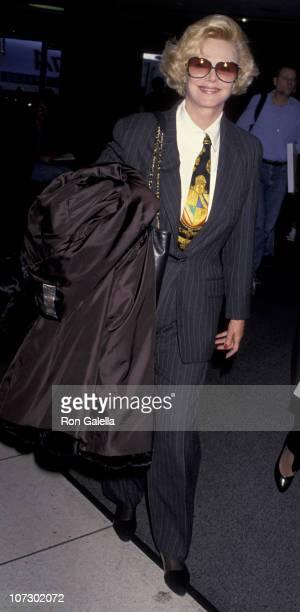 Barbara Sinatra during Barabara Sinatra Sighting at Los Angeles International Airport - January 26, 1994 at Los Angeles International Airport in Los...