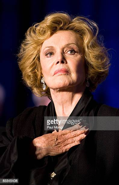 Barbara Sinatra during the playing of the U.S. National Anthem at the National Italian American Foundation 33rd Anniversary Awards at the Hilton...
