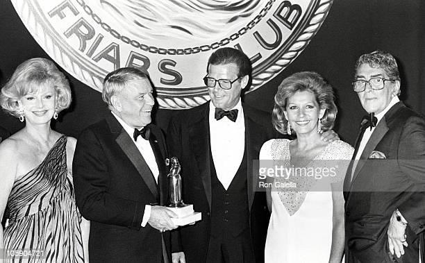 Barbara Sinatra Frank Sinatra Roger Moore Luise Moore and Dean Martin