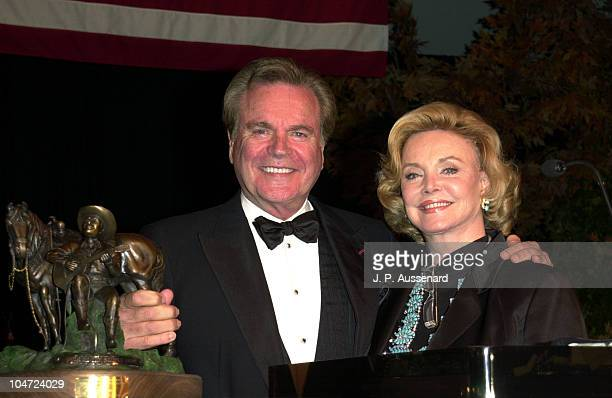 Barbara Sinatra presenting the Western Heritage Award to Robert Wagner