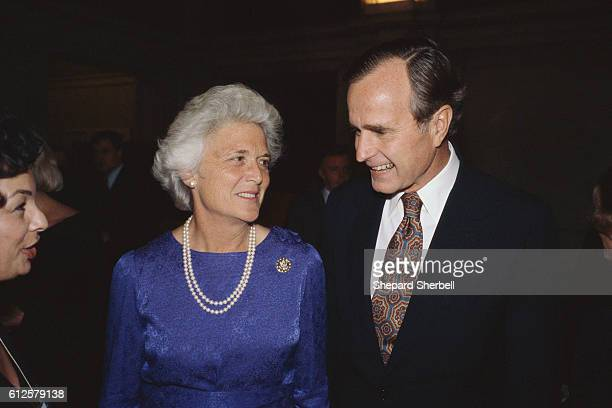 Barbara stands with her husband George Bush George Bush was vice president under Ronald Reagan from 19811989 and president of the United States from...