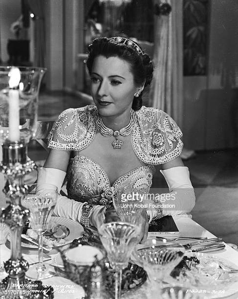 Barbara Stanwyck as con artist Jean Harrington posing as the wealthy Lady Eve Sidwich in the romantic comedy 'The Lady Eve' directed by Preston...
