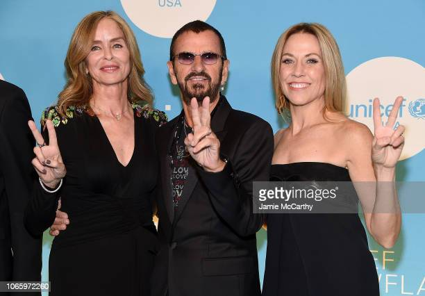 Barbara Starkey Sir Ringo Starr and Sheryl Crow attend the UNICEF USA's 14th Annual Snowflake Ball at Cipriani Wall Street on November 27 2018 in New...