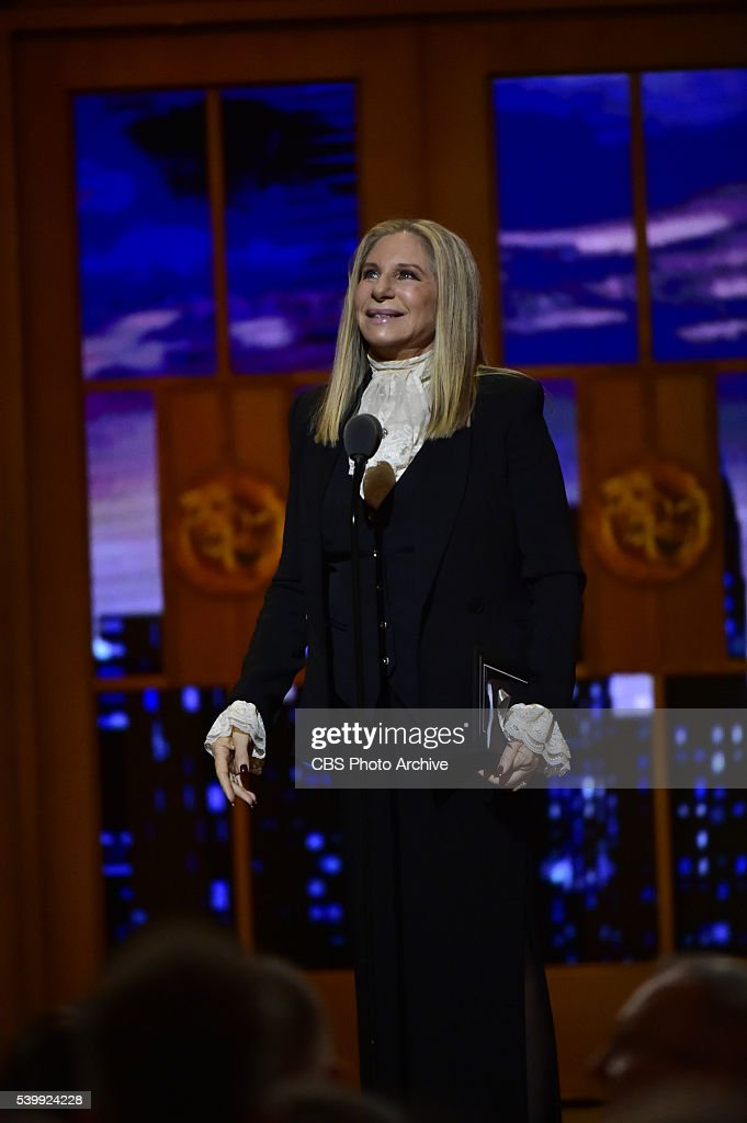 Barbara Streisand at THE 70TH ANNUAL TONY AWARDS, live from the Beacon Theatre in New York City, Sunday, June 12 (8:00-11:00 PM, live ET/ delayed PT) on the CBS Television Network.