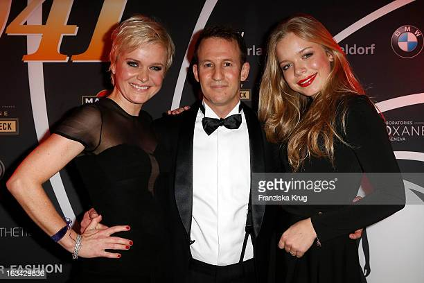 Barbara Sturm Adam Waldman and Charlotte Sturm attend the Barbara Sturm Celebrates Bond Birthday Party at the Casino Royal on March 09 2013 in...