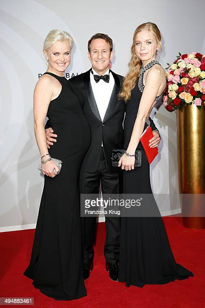 Barbara Sturm, Adam Waldman and Charlotte Sturm attend the Rosenball 2014 on May 31, 2014 in Berlin, Germany.