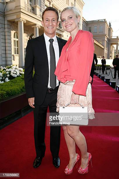 Barbara Sturm and Adam Waldman attend the Bertelsmann Summer Party at the Bertelsmann representative office on June 6 2013 in Berlin Germany