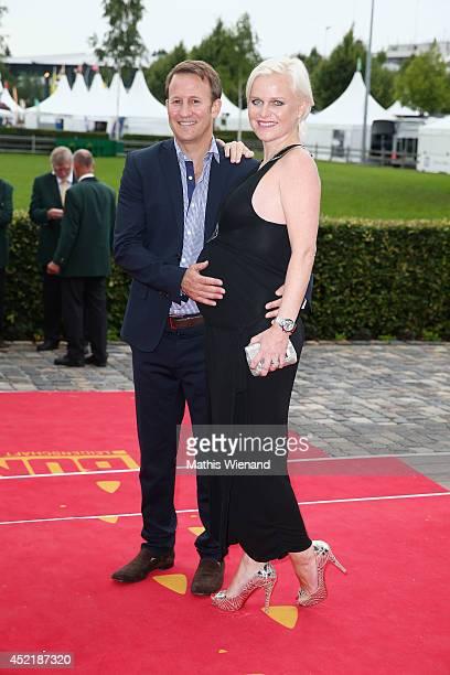 Barbara Sturm and Adam Waldman attend the Chio 2014 media night on July 15 2014 in Aachen Germany