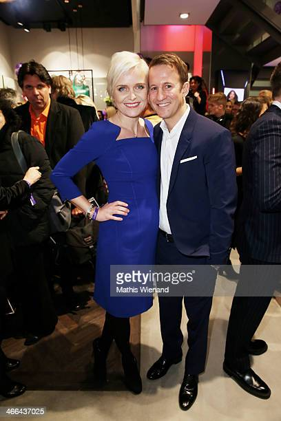 Barbara Sturm and Adam Waldman attend the Laurel store opening on February 1 2014 in Dusseldorf Germany