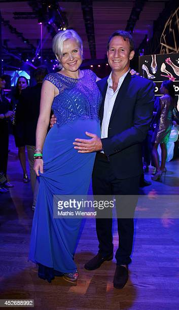 Barbara Sturm and Adam Waldman attend the New Faces Award Fashion Show 2014 on July 25 2014 in Duesseldorf Germany