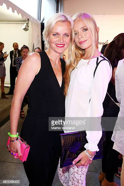 Barbara Sturm and Charly Sturm arrive for the Thomas Rath show during Platform Fashion July 2015 at Areal Boehler on July 26 2015 in Duesseldorf...