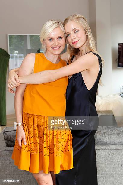 Barbara Sturm and Charly Sturm attend the 'Dr Barbara Sturm NetAPorter' Dinner Party on July 21 2016 in Munich Germany