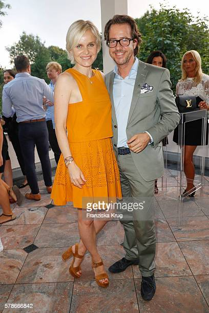 Barbara Sturm and Christian Scheerke attend the 'Dr Barbara Sturm NetAPorter' Dinner Party on July 21 2016 in Munich Germany