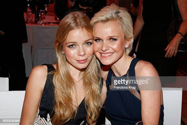Barbara Sturm and her daughter Charly during the German Film Ball 2016 at Hotel Bayerischer Hof on January 16 2016 in Munich Germany