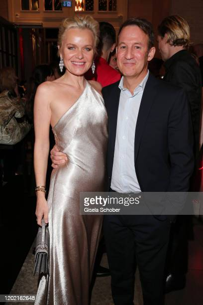"Barbara Sturm and her husband Adam Waldman attend the Berlin Opening Night by Bertelsmann Content Alliance at hotel ""Das Stue"" on February 20, 2020..."