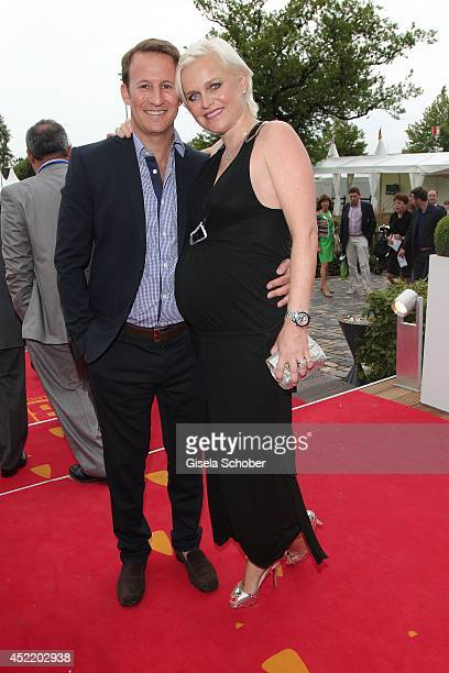Barbara Sturm and her husband Adam Waldman attend the CHIO 2014 media night on July 15 2014 in Aachen Germany