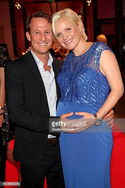 Barbara Sturm and her husband Adam Waldman attend the New Faces Award Fashion 2014 on July 25 2014 in Duesseldorf Germany