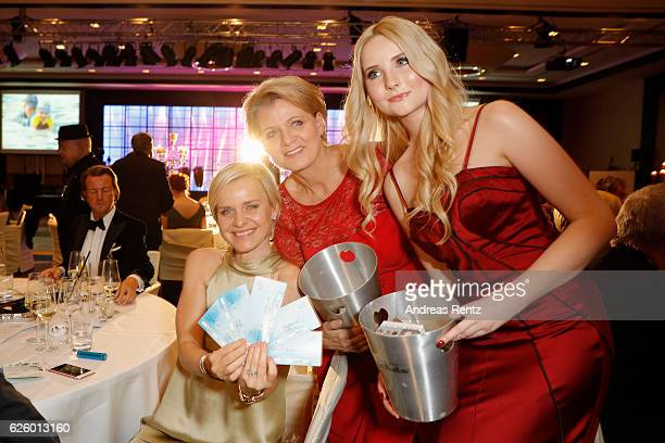 Barbara Sturm Andrea Spatzek and Anna Hiltrop attend the charity event dolphin aid gala 'Dolphin's Night' at InterContinental Hotel on November 26...