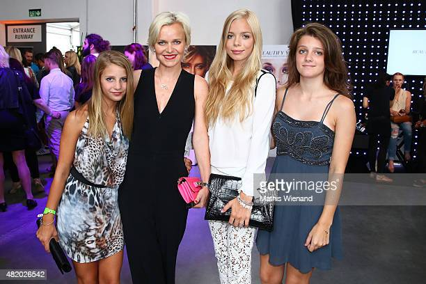Barbara Sturm Charly Sturm and guests arrive for the Barbara Schwarzer show during Platform Fashion July 2015 at Areal Boehler on July 26 2015 in...