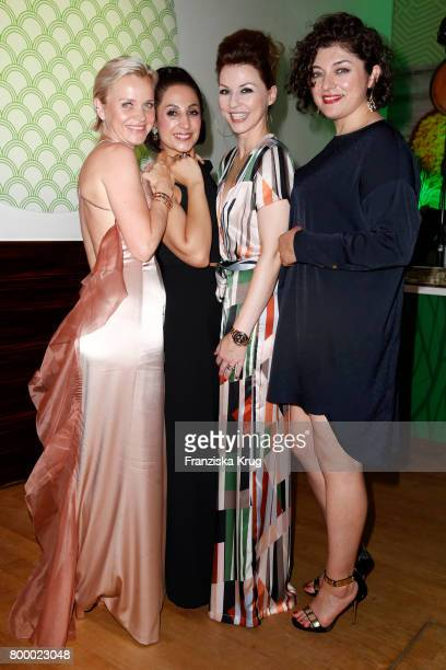 Barbara Sturm Laila Hamidi Hendrikje Kopp and Nahid Shahalimi attend the 'Bertelsmann Summer Party' at Bertelsmann Repraesentanz on June 22 2017 in...