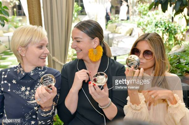 Barbara Sturm Lupe Puerta and Erica Pelosini attend NETAPORTER and Dr Barbara Sturm Host PreOscars Lunch in Los Angeles at Chateau Marmont on...
