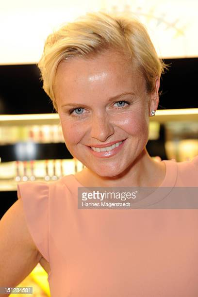 Barbara Sturm poses during her presentation of 'Molucular Skin Care' at Horst Kirchberger Makeup Studio on September 5 2012 in Munich Germany