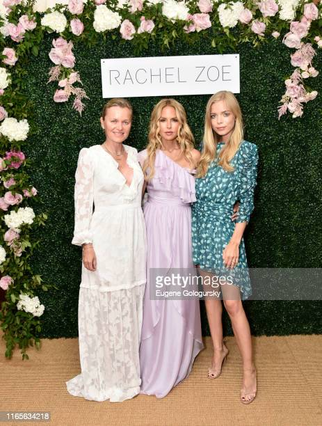 Barbara Sturm, Rachel Zoe, and Charly Sturm attend the Rachel Zoe Collection Summer Dinner at Moby's East Hampton with FIJI Water, Tanqueray, and...