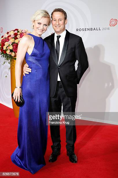 Barbara Sturm Waldman and Adam Waldman attend the Rosenball 2016 on April 30 in Berlin Germany