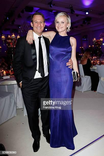 Barbara Sturm Waldman and Adam Waldman attend the Rosenball 2016 on April 30 2016 in Berlin Germany