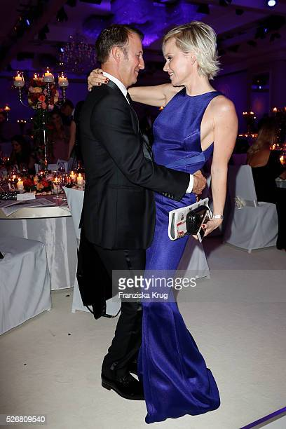 Barbara Sturm Waldman and Adam Waldman attend the Rosenball 2016 on April 30 2016 in Berlin Germany