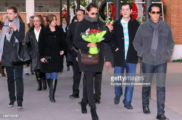 Barbara Suances Fedra Llorente Camen Morales Luis Guerra Shaila Durcal Micky Morales and Dorio Ferreira attend the funeral for Carmen Barretto Valdes...