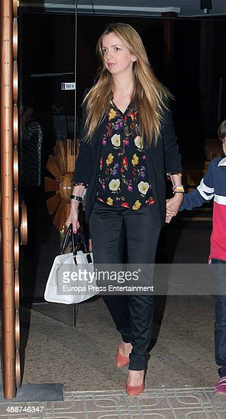 Barbara Suanzes attends the funeral for Antonio Morales widower of Rocio Durcal at Sagrado Corazon church on May 7 2014 in Madrid Spain