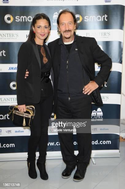 Barbara Tabita and Andrea Mingardi attend the third day of the 16th Annual Capri Hollywood International Film Festivalon December 28, 2011 in Capri,...