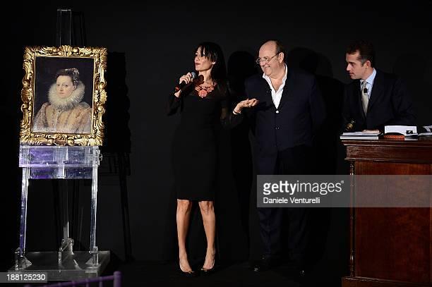 Barbara Tabita and Gerry Scotti attend the Gala Dinner for 'La Migliore Offerta' during The 8th Rome Film Festival on November 15 2013 in Rome Italy