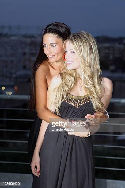 """Barbara Tabita and Laura Adriani attend the """"I Cesaroni"""" italian TV serie at La Citta Del Gusto on September 7, 2010 in Rome, Italy."""