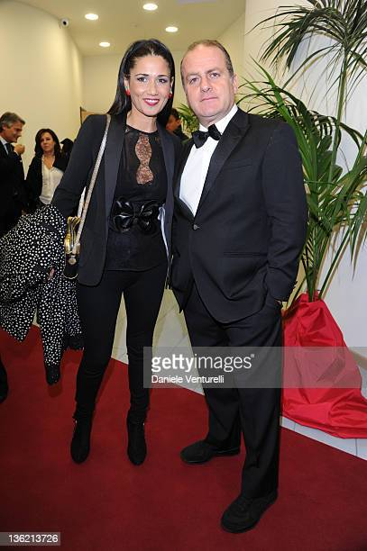 Barbara Tabita and Pascal Vicedomini attend the third day of the 16th Annual Capri Hollywood International Film Festivalon December 28, 2011 in...